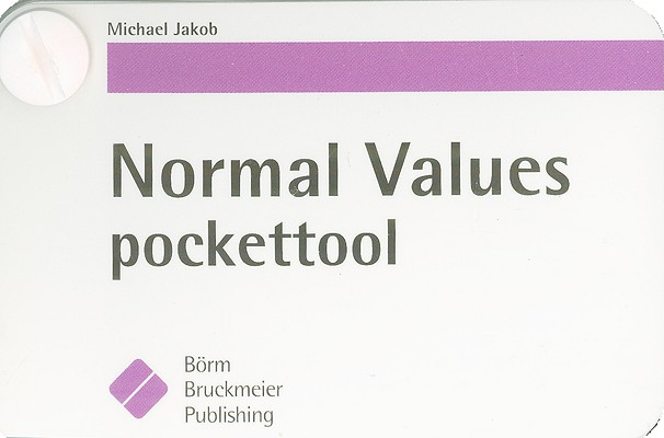 Normal Values Pockettool By Jakob, Michael